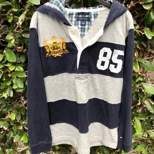 Tommy Hilfiger Hooded Polo/Rugby Shirt